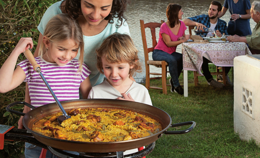 iron pan to cook paella Foxchef Garcima price promotion