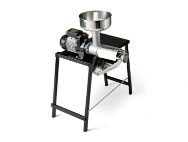 9005 N Electric Tomato Squeezer with Table n.5 Reber 500W Motor for Tomato Conserve Jam and Fruit Juice