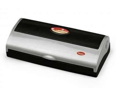 9344 N Salvaspesa Black and Silver Vacuum Sealer Machine 32cm Reber for Food Preservation With Patented Energy Saving System