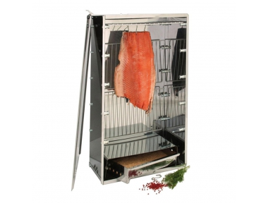 10040N Stainless Steel Smoker Ideal for Meat and Fish Also at Home