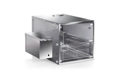 Compact Small Smoker Ideal for Home Use in Stainless Steel to Smoke Food of any Type