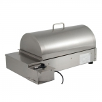 Small Compact Smoker for Home in Stainless Steel to Smoke Food of any Type