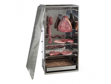 Stainless Steel Smoker for Smoking Food such as Salami and Cheese with 1 kg Chipping Included