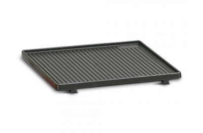 Grooved Cast Iron Griddle Ferraboli for Barbecue and Meat & Vegetables Grilling