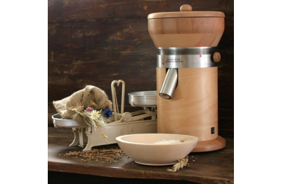 MT18 Grain Grind Mill for Herbalism with Natural Granite and Beech Wood by Salzburg Mills