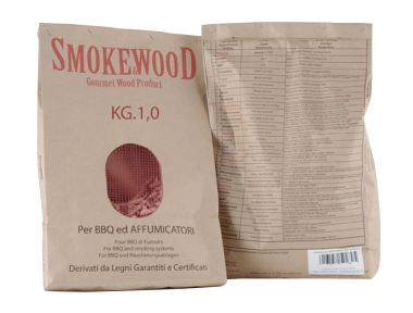 Pressed Chippings Beech Poplar and Oak for Barbecue and Smokers 1Kg Smoke&Wood