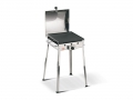 Mono Inox Ferraboli LPG Gas Barbecue with Lid for Homogeneous and Fast Cooking of Meat and Vegetables