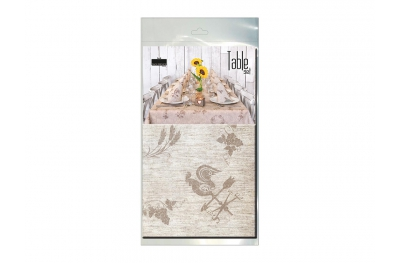 Kit Tablecloth and 10 Napkins Light Brown Sustainable for Lunch and Dinner by Pack Service Italia