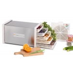 Domestic Dehydrator Biosec Silver B5-S with Stainless Steel Drying Tunnel Tauro Essiccatori