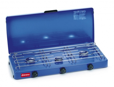 Gas Cooker With 3 Burners Ferraboli Small Portable to Use in Camping or Picnic in Tent for Eating Outdoors