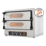 Double Electric Oven for Pizzeria Kube 2 in Stainless Steel with Italian Quality by Resto Italia