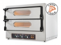 Double Electric Oven for Pizzeria Kube 2 in Stainless Steel Italian Quality by Resto Italia