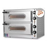 Double Electric Oven for Pizzas Small-G2 Single-Phase 230V 100% Made in Italy by Resto Italia