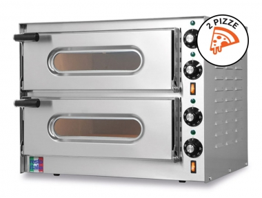 Double Electric Oven for Pizzas Small-G2 Single-Phase 230V 100% Made in Italy by Foxchef Essentials