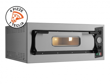 Electric Pizza Oven Eco 4 Steel 230V-400V for Professional Pizza Makers