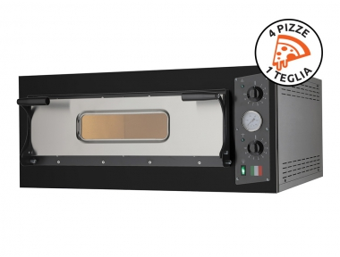 Electric Oven for Pizzas Eco 4 Black 230V-400V for Sustainable Cooking