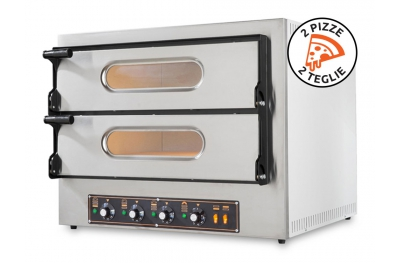 Powerful Electric Oven Kube 2 Plus for Pizzerias Stainless Steel by Resto Italia