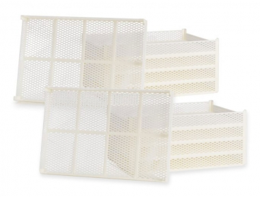 Kit 10 Baskets in Food Plastic CEB 10 for Replacement of Broken Parts Domus Dryers and Silver Tauro Biosec