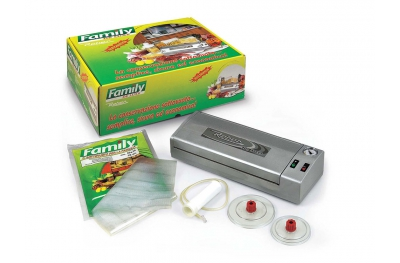 Gift Kit 9701 NF De Luxe Vacuum Machine Silver 32cm Reber Made in Italy Quality