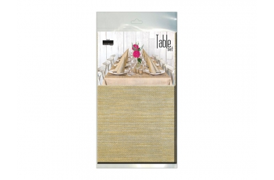 Coordinating Tablecloth and 10 Napkins Set Gold Melange Kit 100% Gold Biodegradable for Table by Pack Service Italia