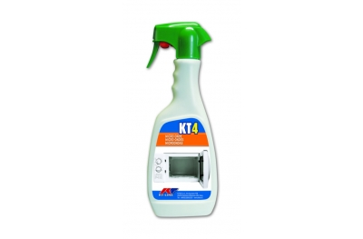 KT4 Sanitizing Degreaser for Microwave Ovens Kiter KT-Line 500ml Bottle with Nebulizer
