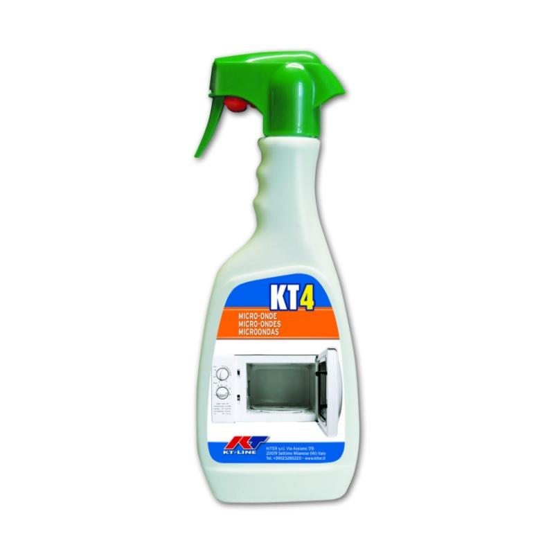 KT4 Sanitizing Degreaser for Microwave Ovens Kiter KT-Line 500ml Bottle with Nebulizer