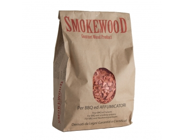 Alpine Wild Cherry Italian Gourmet Wood Chips from Trentino for BBQ and Smoker 3,3 Lt Smoke&Wood