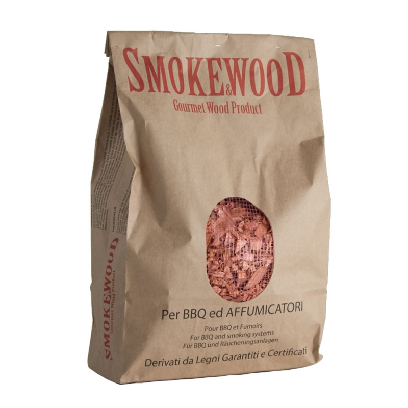 Beech Italian Gourmet Wood Chips from Trentino for Barbecues and Smokers 3,3 Lt Smoke&Wood