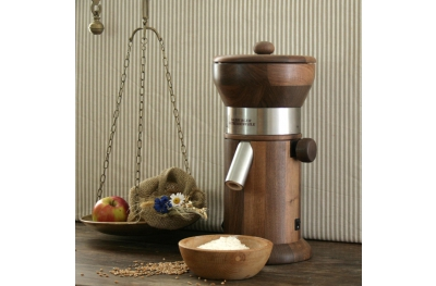 MT5 Walnut Wood Grain Mill for Grinding Cereal with Granite Stone Salzburg Mills