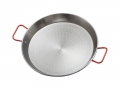 Pan for Spanish Paella in Iron Small Size Diameter 42 cm With 2 Handles For Summer Parties by Garcima