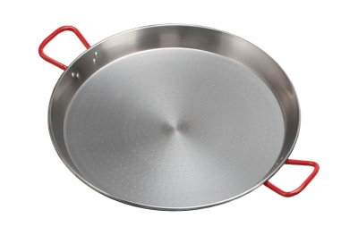 Pan for Paella Valenciana in Iron Large Size Diameter cm 80 with 2 handles Professional by Garcima