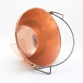 Artisan Italian Copper Cauldron with Bow Handle to Cook Polenta and Cheese