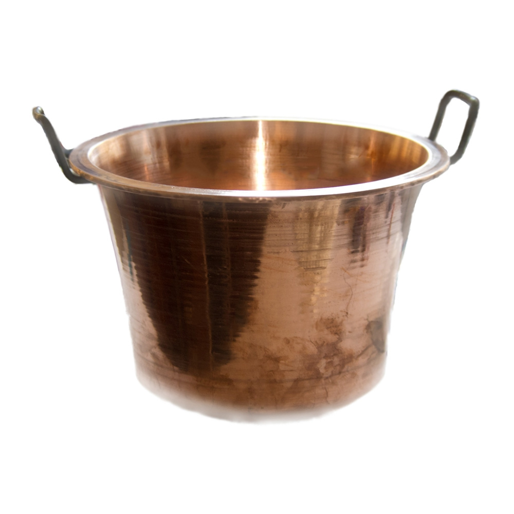 Cauldron Pot in Copper to Make the Typical Italian Polenta