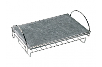 Kit Ferraboli Soapstone Plate with Metallic Support To Keep Hot Food Pots and Dishes on the Table