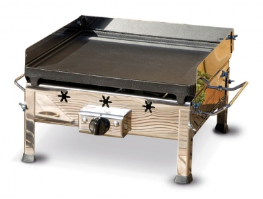 Plancha Inox Ferraboli GPL Gas Barbecue in Cast Iron and Stainless Steel Without Legs to Put on Table or Other Support