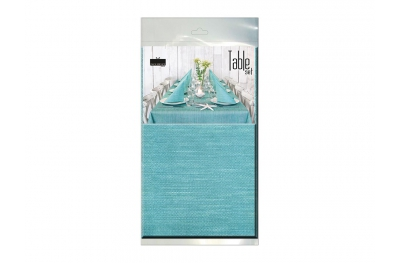 Table Set Tablecloth and 10 Napkins Green Petroleum Kit 100% Biodegradable by Pack Service Italia