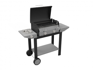 Vulcano Ferraboli Gas Barbecue with Lava Stone and Grigliandola to Avoid Grease Drop on Grill